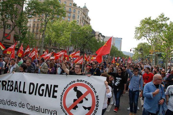 Барселона. Очередная массовая манифестация против TTIP